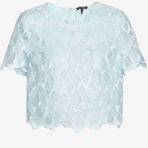 Intermix Blue Lace Top
